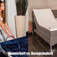 Wasserbett oder Boxspringbett kaufen?